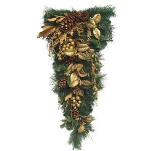 32 Gold Glittered Mixed Pine Artificial Christmas
