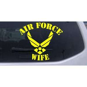Air Force Wife Military Car Window Wall Laptop Decal Sticker    Yellow