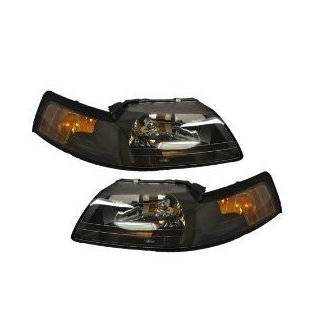Ford Mustang Headlight Set Black With Xenon Bulbs Driver/passenger