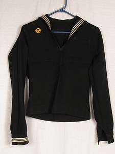 vtg WWII US United States Navy wool sailor shirt size womens mens S XS