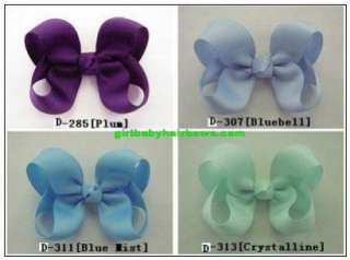 Wholesale Lot 200 Girl Baby Infant 3 Hair Bows D