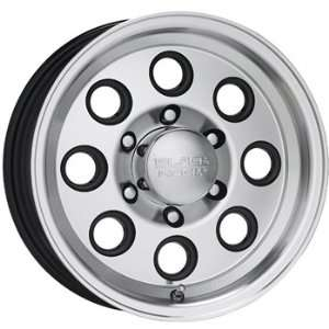 Black Rock Yuma Trailer 15x6 Machined Black Wheel / Rim 5x4.5 with a