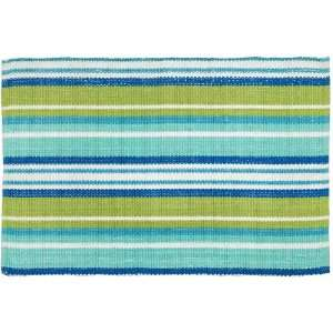 Extra Weave USA Indoor/Outdoor Rug, Teal, Kiwi and Blue, 2