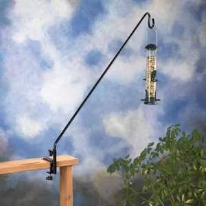 36 in Extended Reach Deck Hook for Bird Feeders, Black