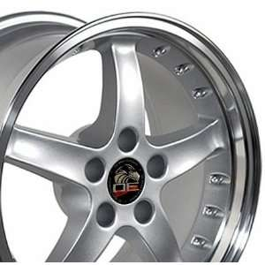 Cobra R Deep Dish Style Wheels with Rivets and Machined