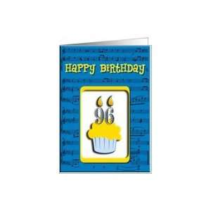 96th Birthday Cupcake, Happy Birthday Card Toys & Games