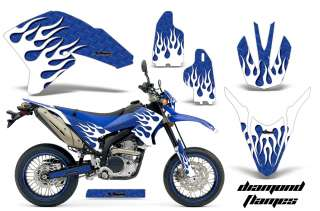 AMR RACING DIRT BIKE NUMBER PLATES GRAPHIC WRAP KIT YAMAHA WR 250 X R