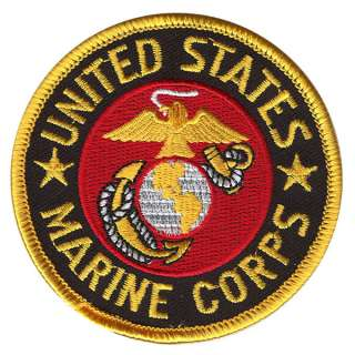 MARINE CORPS PATCH marines embroidered iron on U.S.A. boys mens