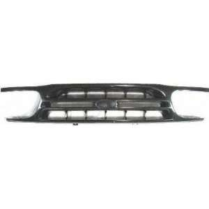 98 01 FORD EXPLORER GRILLE SUV, Black Limited Model, Center Piece Only