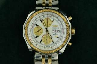 Mens Breitling Stainless Steel & 18K Yellow Gold Bentley GT