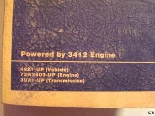 CATERPILLAR 992C WHEEL LOADER PARTS MANUAL 3412 ENGINE