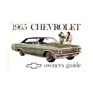 1965 CHEVROLET IMPALA FULL SIZE Owners Manual User Guide Automotive