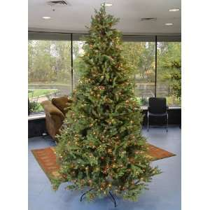 12 Pre Lit White Pine Fir Artificial Christmas Tree