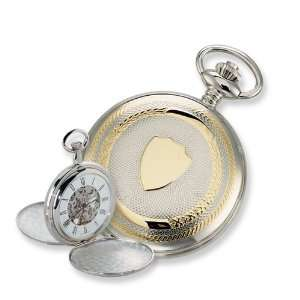 Charles Hubert Two tone Gold plated Double Cover Pocket Watch Jewelry