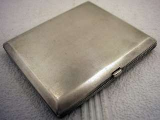 ANTIQUE RUSSIA EMPIRE ART DECO STERLING SILVER CIGARETTE CASE