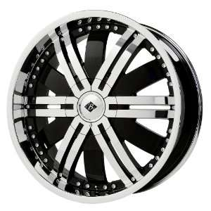Black Ice Alloys Marauder Black Wheel with Chrome Finish