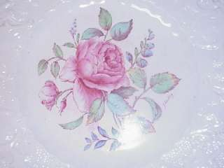 ANTIQUE ADAMS SWANSEA ROSE LUNCH PLATES SET 5 SIGNED J. HACKLEY