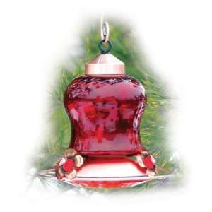 WOODLINK, LTD, RED GLASS HUMMINGBIRD FEEDER, Part No. 821056 (Catalog