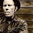 TOM WAITS Original signed CANVAS ART PAINTING 26 x 16
