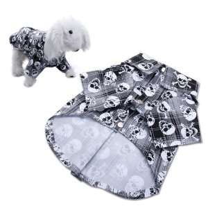 Dog Clothes Puppy Apparel Shirt with Skull Pattern   S
