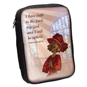 I Have Faith Fabric Large Black Bible Cover (0709096814019