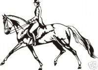 Horse Trot Equestrian Rider Trailer Truck Decal