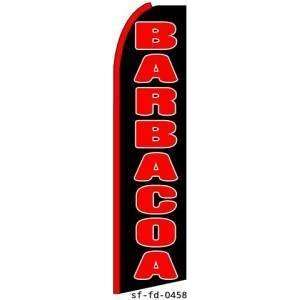 Barbacoa Extra Wide Swooper Feather Business Flag Office