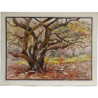 Albert Cooper Epping Forest Oak Trees Painting