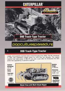 1955 D9D TRACK TYPE TRACTOR 1993 Caterpillar Earth Movers CARD
