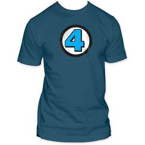 New Fantastic Four Marvel Comic 4 Logo T shirt tee top