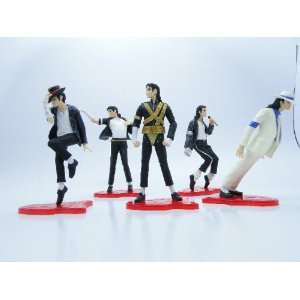 (TM) Best Moment of Michael Jackson 5 Pcs Figure Classic Dance Moves