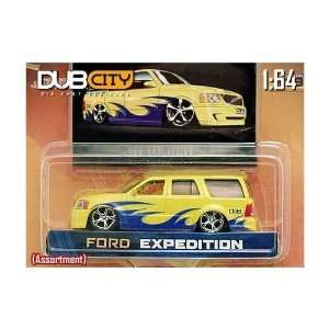 Jada Dub City Yellow Ford Expedition 164 Scale Die Cast