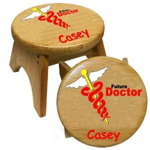 Future Doctor Kids Wooden Step Stool by Holgate Toys