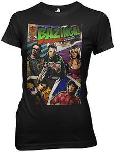 New The Big Bang Theory TV Show Bazinga Comic Book Cover Ladies Women