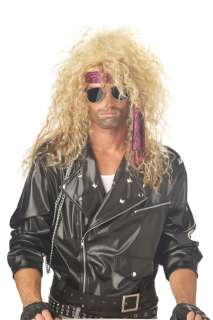 Heavy Metal Rocker Halloween Costume Wig   Blonde