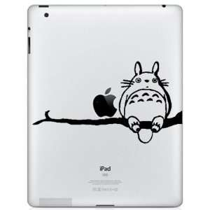 Ipad Vinyl Decal Sticker   Totoro Sitting on Tree