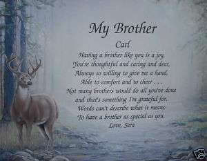 MY BROTHER PERSONALIZED POEM BIRTHDAY OR CHRISTMAS GIFT