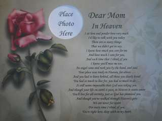 DEAR MOM IN HEAVEN POEM MEMORIAL VERSE GIFT IN LOVING MEMORY OF MOTHER