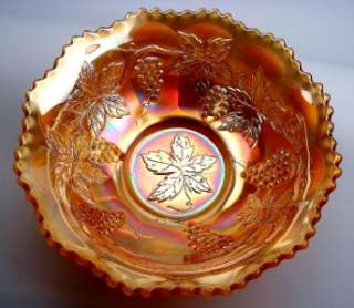 by FENTON ~ MARIGOLD CARNIVAL GLASS 9 MASTER BERRY BOWL