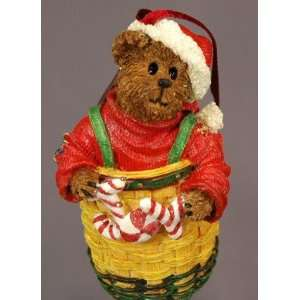 Boyds Bears & Friends Longaberger Peppermint Elfbeary 2003 Christmas
