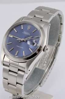 Rolex OysterDate Precision 6694 Mens Watch With Factory Blue Dial