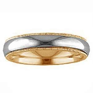 ARTCARVED Silk 14k Two Tone Gold Womens Wedding Band ArtCarved
