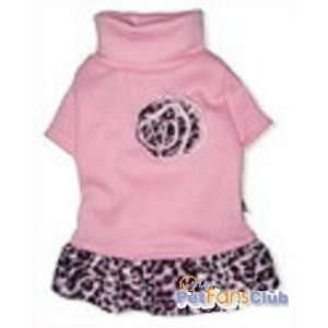 Baby Pink Leopard Print Dog Dress Small