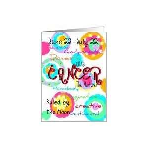 Happy Birthday Cancer sign zodiac characteristics Card