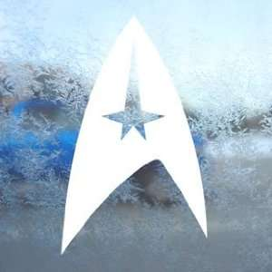 STAR TREK COMMAND Logo White Decal Laptop Window White