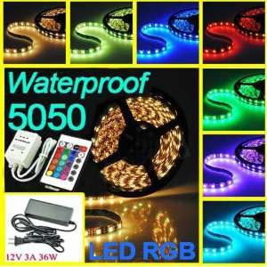 New 5M SMD 5050 Waterproof RGB 150 LED Strip Light