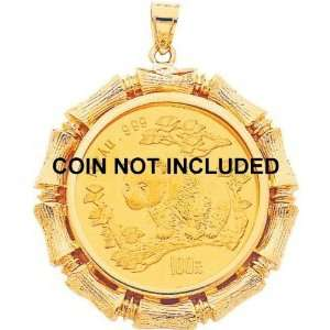 14K Yellow Gold Bezel for 1oz Chinese Panda Coin G Jewelry