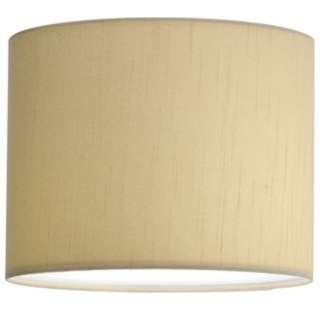 Progress Lighting P8821 01 Beige Silken Fabric Contemporary / Modern