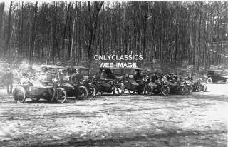 1920 HARLEY DAVIDSON MOTORCYCLE  SIDECAR  LINE UP PHOTO