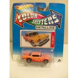 2011 Hot Wheels Color Shifters METALLICS Series 57 Chevy